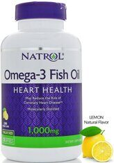 Natrol Omega-3 Fish Oil, 1000 мг, 60 капс