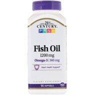 21st Century Fish Oil, 1200 мг, 90 капс